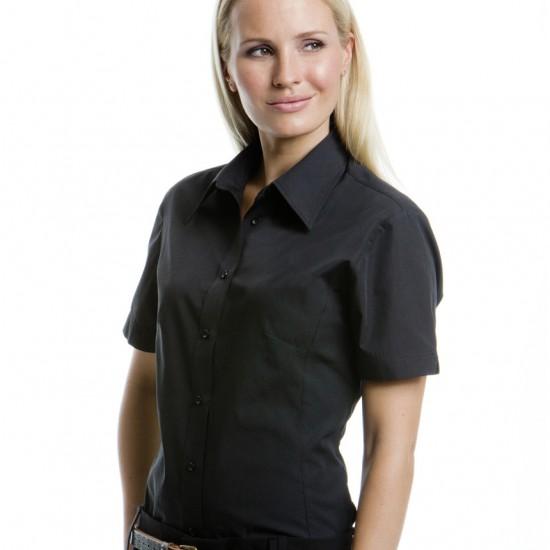 Елегантна официална дамска риза с къс ръкав Poplin