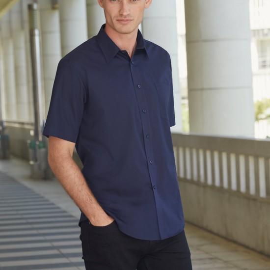 Елегантна официална мъжка риза с къс ръкав Poplin