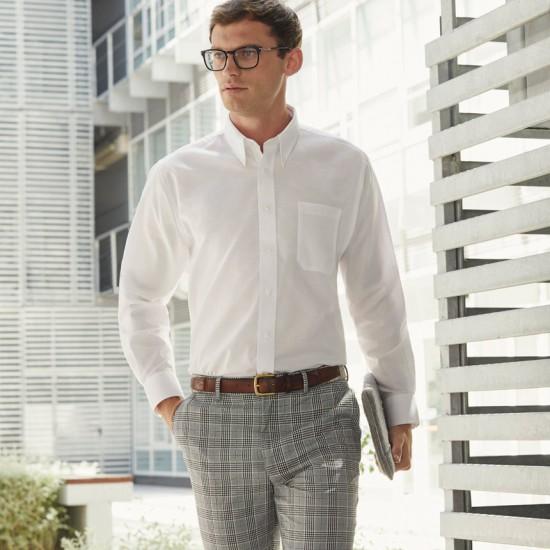 Класическа официална мъжка риза с дълъг ръкав Oxford