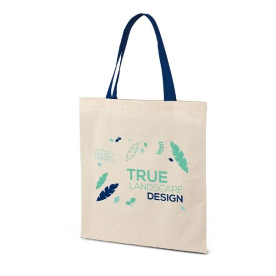 Памучна чанта с цветни дръжки