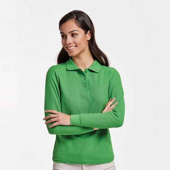 Дамска риза поло пике с дълъг ръкав Estrella Roly