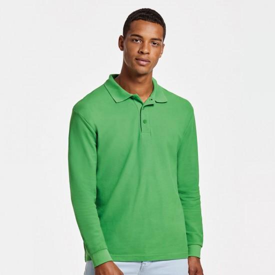 Мъжка риза поло пике с дълъг ръкав Estrella Polo