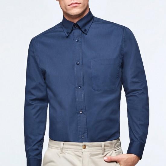 Елегантна официална мъжка риза с дълъг ръкав Aifos