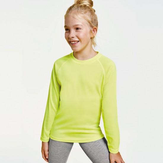 Детска спортна тениска с дълъг Roly Montecarlo