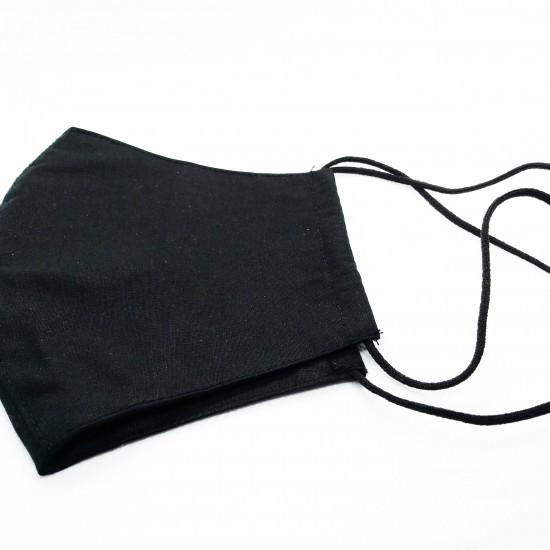 Двуслойна памучна маска с джоб - през врат
