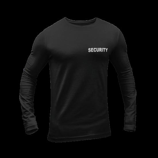 Олекотена блуза с надпис SECURITY
