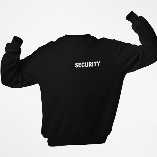 Ватирана блуза с надпис SECURITY