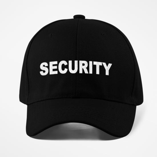 Шапка с козирка надпис SECURITY
