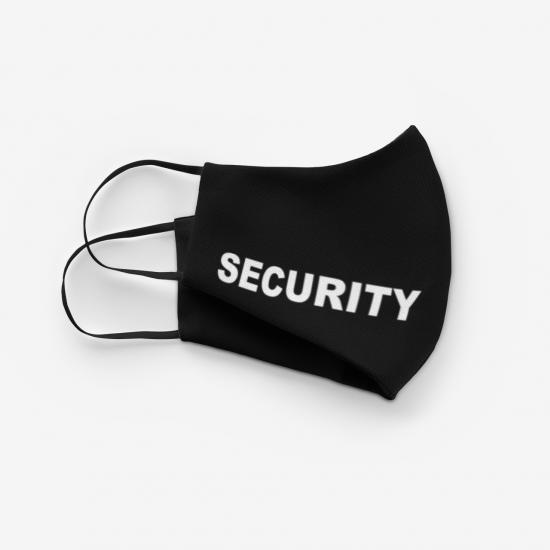 Маска с надпис SECURITY