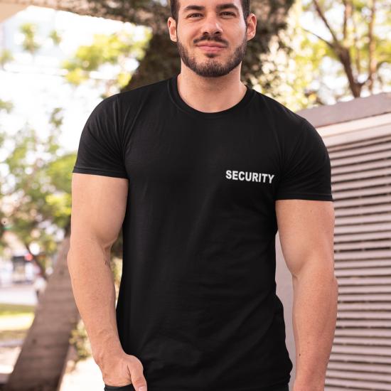Тениска за охранители с надпис - SECURITY
